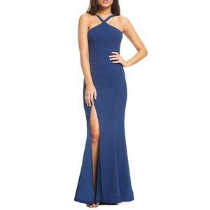 Dress The Population Brianna Halter Mermaid Dress